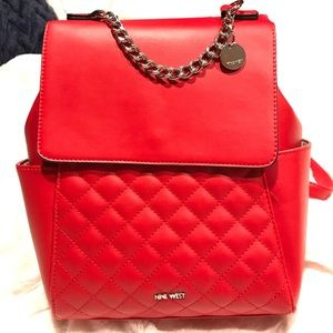 Nine West Yasmina red back pack